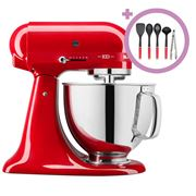 KitchenAid - KSM180 100 Year Queen Of Hearts Mixer P/Red