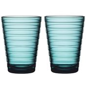 iittala -  Aino Aalto Tumbler Set Sea Blue 2pce 330ml