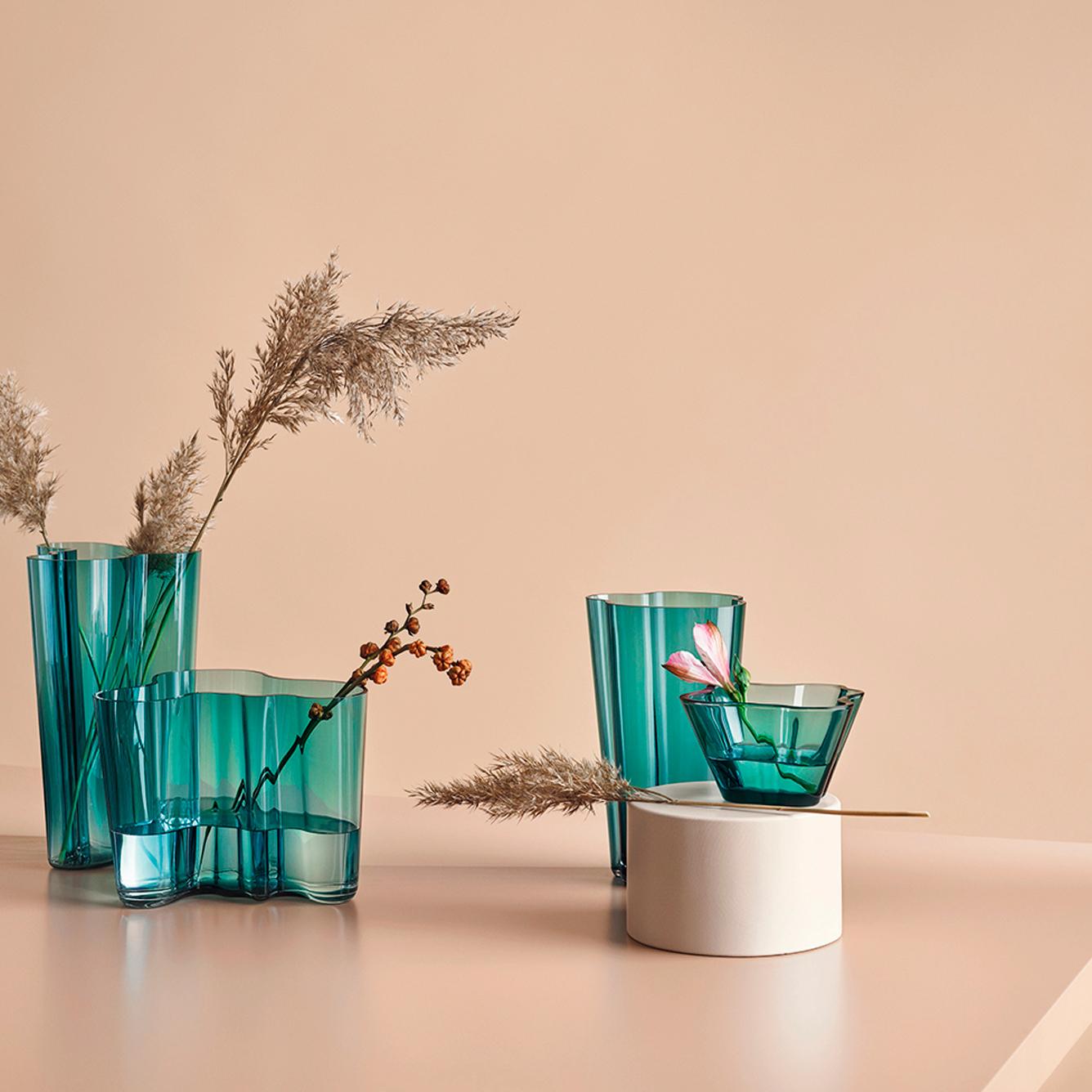 Iittala Alvar Aalto Vase Sea Blue 25cm Peter S Of Kensington