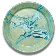 Bornn - Marble Flat Plate Mint Large 26cm