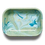Bornn - Marble Baking Dish Mint Small