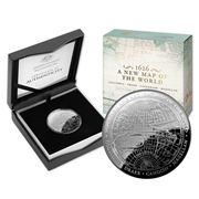 RA Mint - 1626 A New Map of the World 2019 $5 Silver Coin