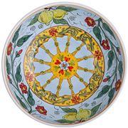 Ceramiche Siciliane - Sicily Line Serving Bowl Sky 35cm