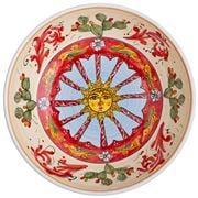 Ceramiche Siciliane - Sicily Line Serving Bowl Sun 35cm