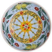 Ceramiche Siciliane - Sicily Line Salad Bowl Sky 30cm