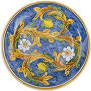 Ceramiche Siciliane - Sicily Line Round  Plate Lemons 38cm
