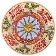 Ceramiche Siciliane - Sicily Line Round Plate Sun 38cm