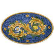 Ceramiche Siciliane - Sicily Oval Platter Blue Lemons 44cm