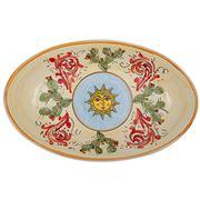 Ceramiche Siciliane - Sicily Line Oval Platter Sun 44cm