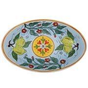 Ceramiche Siciliane - Sicily Line Oval Platter Sky 61cm