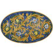Ceramiche Siciliane - Sicily Oval Platter Blue Lemons 61cm