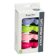 Bubba Blue - Pram Clips Set Multicoloured 4pce