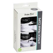 Bubba Blue - Pram Clips Set  Black & White 4pce
