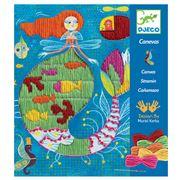Djeco - Mermaid Drop Stitch Embroidery Kit