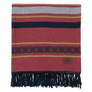 Lexington - Multi Striped Cotton Throw Red 130x170cm