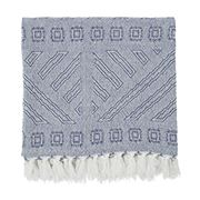 Lexington - Jacquard Throw Blue/White 130x170cm