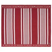 Lexington - Family Beach Towel Stripe Red/White 200x180cm
