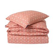 Lexington - Printed Sateen Apricot/White Flat Sheet Small