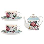 Ashdene - Jardin Peony Teapot And Teacup & Saucer Set 5pce