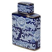 Fancy - Chinese Boxe  Porcelain Jar White/Blue 31x20cm