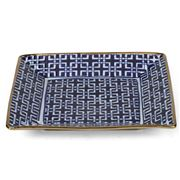 Fancy - Square Plate Blue & White 25x25cm