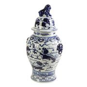 Fancy - Jar Porcelain White/Blue Langham 65cm