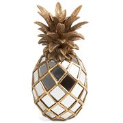 Fancy - MIrrored Pineapple Antique Gold 18x34cm