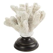 Fancy - White Coral Resin On Wooden Base 19cm