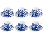 Luxe By Peter's - Espresso Set Cherry Blossom Blue 6pce