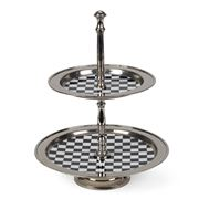 Fancy - Two Tier Cake Stand Checkerboard