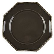 Costa Nova - LUZIA Octagon Salad Plate Dark Grey 21cm