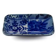 Costa Nova - Lisboa Blue Tile Soap Dish 13cm