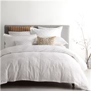 Private Collection - Cassidy White Quilt Cover Set King 3pce