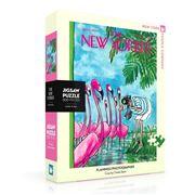 New York Puzzle Co - Flamingo Photo 500Pce