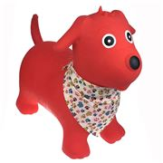 Kaper Kidz - Bouncy Rider Red Dog w/Scarf