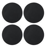 Vacavaliente - Recycled Leather Circ Coaster Black Set 4pce