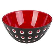 Guzzini - Le Murrine Bowl Black/White/Red 25cm