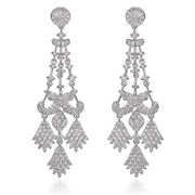 Steven Khalil - Camellia Chandelier Earrings