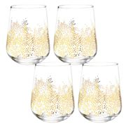 Portmeirion - Sara Miller Leaf Stemless Wine Glass Set 4pc