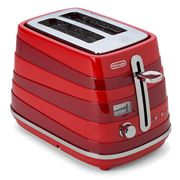 DeLonghi - Avvolta Two Slice Toaster CTA2003 Red