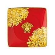 Rosenthal - Versace Medusa Rhapsody Square Bowl Red 12cm