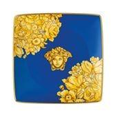 Rosenthal - Versace Medusa Rhapsody Square Bowl Blue 12cm
