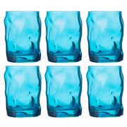Bormioli Rocco - Sorgente Cooler Glass Blue Set of 6 300ml