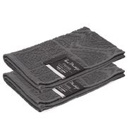 Bas Phillips - Persia Hand Towel Charcoal Set Of 2