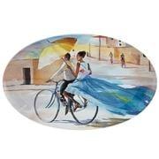 Vista Alegre - Pedalando Oval Platter Noiva