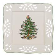 Spode - Christmas Pierced Square Tray 19cm