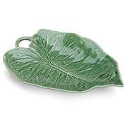 Bordallo Pinheiro - Green Sunflower Leaf Serving Plate 31cm