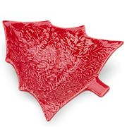 Bordallo Pinheiro - Red Christmas Tree Bowl 18cm