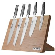Global - Takumi Maple Magnetic Knife Block Set 6pce