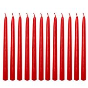 Candlelight Co - Taper Candles Set Red 12pce 24cm